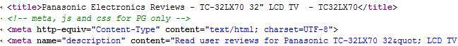 Source code meta tags