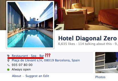 No hotel in FB Category