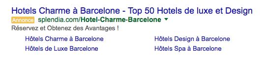 Ads Google Hotel Barcelona