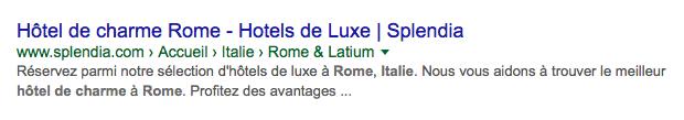 Organic presentation hotel Rome
