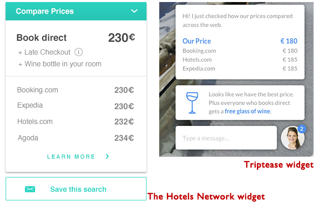 Direct booking widgets